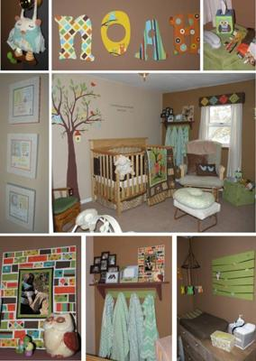 Baby Noah's Bright Owl Baby Nursery Theme Decor