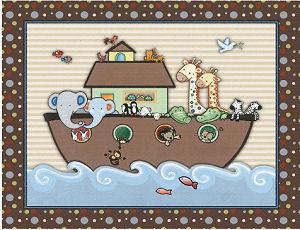 Noah s ark baby nursery wall art print