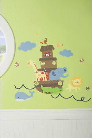 Noahs Ark baby nursery wall stickers and decals