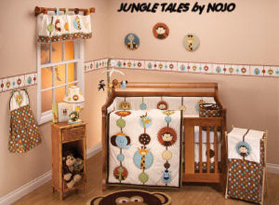 NOJO Jungle Babies Bedding and Nursery Decor for Your Baby's Room