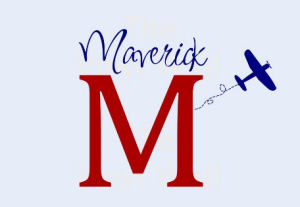 Vinyl nursery wall name decal for a baby boy in an airplane or aviation theme in red and blue with his monogram or initial surrounded by airplanes
