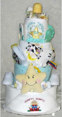 nursery rhyme theme diaper cake party centerpiece decorations
