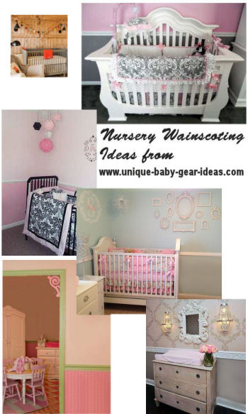DIY Nursery Wainscoting Ideas barn door beadboard wooden panels