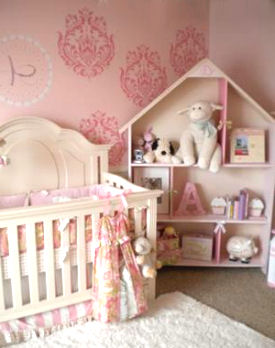 Nursery Wall Painting Ideas for a Baby Girl Room