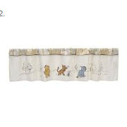 Classic Winnie the Pooh bear baby nursery curtains window treatments for a baby nursery room