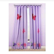 Pink lavender purple Disney butterfly nursery curtains window treatments valances for a baby girl nursery room