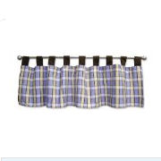 Plaid baby nursery curtains window treatments valances for a baby nursery room