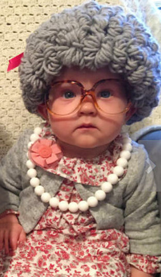 DIY Old Lady Baby Costume Ideas How to Dress Your Baby Like