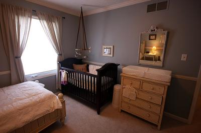 One of a kind nursery filled with memories and special touches.