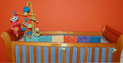 orange nursery wall decor