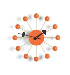 Orange ball wall clock