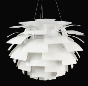 Modern white artichoke leaves layered baby nursery pendant ceiling lamp light