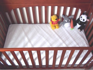 This organic baby crib mattress is a good fit, cheaper than most and chemical free!