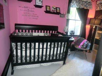 our baby girl 39 s small pink and black punk nursery
