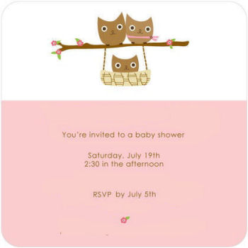 Owl theme baby shower invitations that will invite your party guests to your party in style