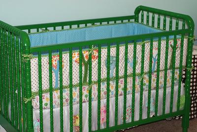 Our Baby Girl's Bright Green Crib and Owl Baby Nursery Theme Decor