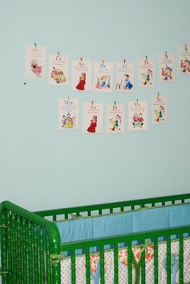 Owl Baby Nursery Theme Vintage Alphabet Wall Decor