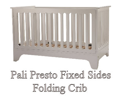 Pali Presto baby crib with fixed folding sides