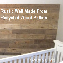 DIY rustic baby nursery wall decor