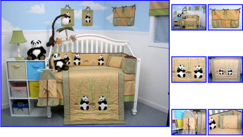Panda Baby Bedding Crib Set Nursery Theme