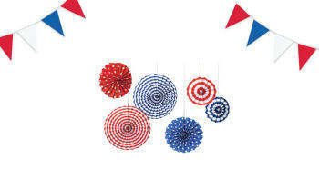 Patriotic baby shower decorations in red white and blue