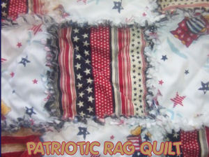 patriotic red white blue rag baby crib quilt bedding nursery bedding sets