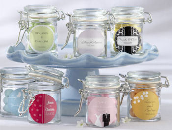personalized baby shower candy jars favors labels boy girl neutral bridal