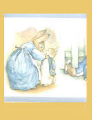beatrix potter peter rabbit jemima puddleduck baby nursery wallpaper border wall