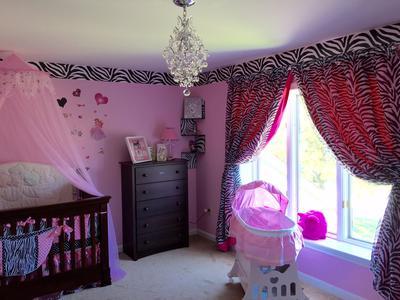 Pink and Black Baby Princess Nursery