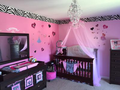 Pink and Black Baby Princess Nursery