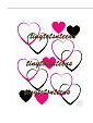 pink and wall wall decals hearts