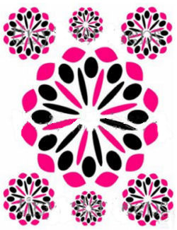 pink and black wall decor stickers decals polka dots