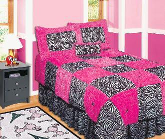 Zebra Twin Bed Set