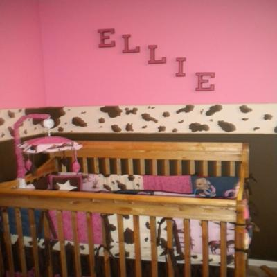 Pink and Brown Baby Cowgirl Nursery Theme Pictures