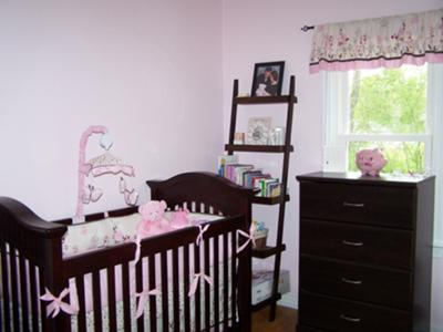 Pink and Brown Butterfly Meadow Nursery Design