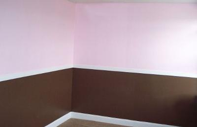 Pink Bedroom Ideas on Chocolate Brown And Pink Baby Girl Nursery Walls Painting Technique