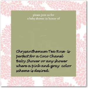 pink gray and white baby girl shower invitations card chanel french parisian