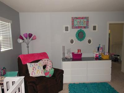 c2baf7acb Pink and Grey Baby Girl s Nursery Decorated with Owls
