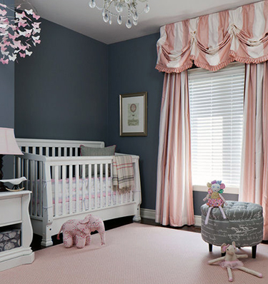 Pink White And Charcoal Grey Nursery Ideas For A Baby Girl