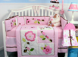 Pink ladybugs baby nursery ideas