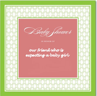 pink and green spring lime watermelon salmon baby girl shower invitation card invites
