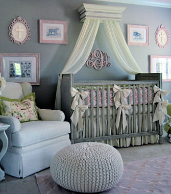 Pink and grey baby girl nursery jungle safari nursery theme ideas