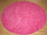 pink round bedroom girls baby nursery area rug