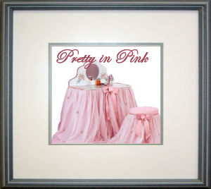 girls pink ballerina vanity bedroom nursery decor table