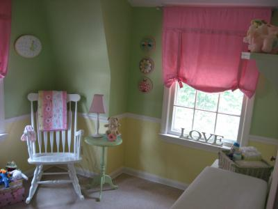 Pink Yellow And Green Fairy Garden Baby Nursery Theme
