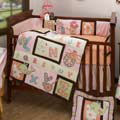 pink and brown baby crib nursery bedding sets comforters