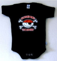 jolly roger skull pirate onesie