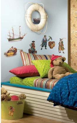 Pirate wall decals and stickers