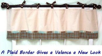 Mad About Plaid baby nursery window curtain valance