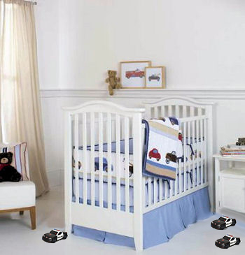 baby police nursery theme decorating ideas crib bedding set and decor